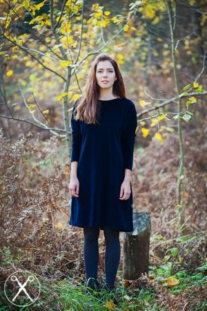 Dark Blue Velvety Dress