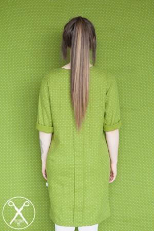 Green Polka Dotted Linen Dress