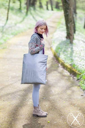 Silver Violet Faux Leather Vegan Oversized Bag | 2nd ME | Second ME | www.secondme.eu