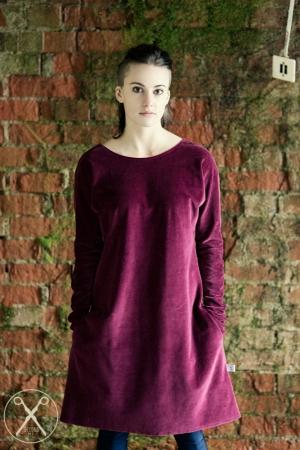 Burgundy velvety dress