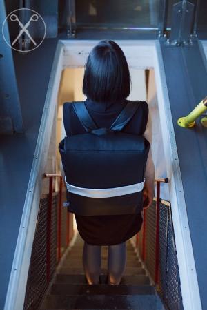 Faux Vegan Eco Leather minimalistic backpack | SS16| Second ME | www.secondme.eu