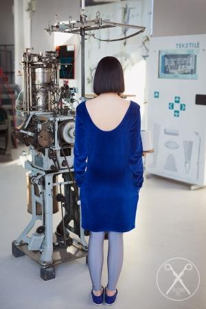 Vivid blue tight velour dress | SS16| Second ME | www.secondme.eu