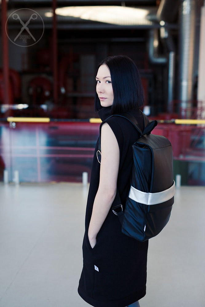 Faux Vegan Eco Leather minimalistic backpack | SS16| Second ME | www.secondme.eu