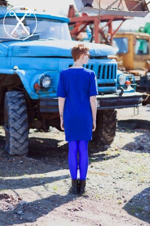Bright Blue Round Shaped Dress | A/W 15/16 | Second ME | www.secondme.eu