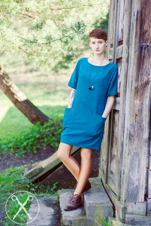 Bluish-Green Round Shaped Dress | A/W 15/16 | Second ME | www.secondme.eu