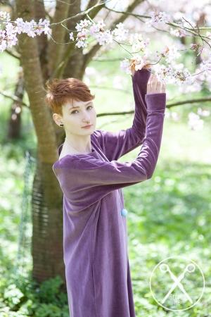 Pastel rose velour dress | A/W 15/16 | Second ME | www.secondme.eu
