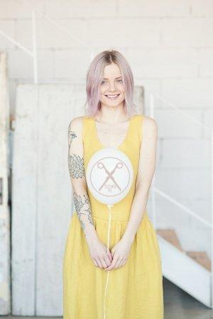Mustard Yellow Crossed Back Linen Dress | 2nd ME | Second ME | www.secondme.eu