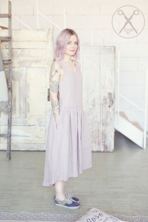 Pastel Pink Crossed Back Linen Dress | 2nd ME | Second ME | www.secondme.eu